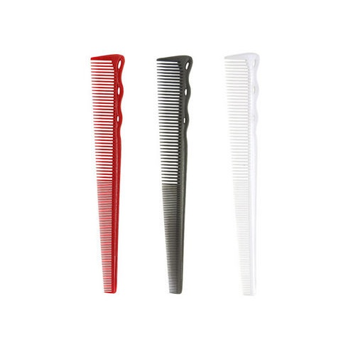 YS Park 252 Barbering Cutting Flexible Comb Red